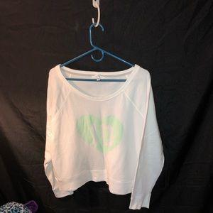 White Victoria secret sweatshirt